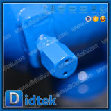 Aço vazado Didtek Rb Reduzir montado do Munhão do Orifício da Válvula de Esfera com Caixa de Engrenagens