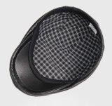 Negro plano de cuero que conduce los sombreros del vendedor de periódicos