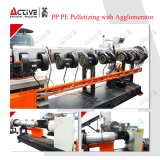 PE PP Film rallar la máquina con el único tornillo de línea de maquinaria de peletización