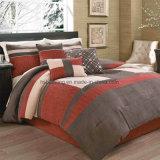 Insieme arancione scuro dell'assestamento della rappezzatura del Comforter del ricamo di stile elegante