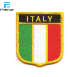 Haute qualité à la main de l'Italie d'un drapeau Étiquette du vêtement