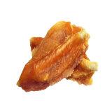 Pollo e formaggio con l'alimento per animali domestici dei bastoni del pellame greggio