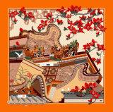 Chinesen fertigen eindeutiges Muster-Silk Schal-Quadrat kundenspezifisch an