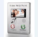 Bildschirm VoIP video schroffe SIP des Hilfen-Punkt-7 des Zoll-TFT Wechselsprechanlage