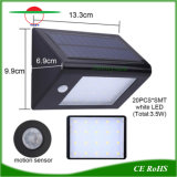 Solar Powered Outdoor Security 20LED Light Waterproof Garden Wall Lamp