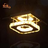 Lámpara colgante de cristal lámparas atenuables modernos LED Luz colgante