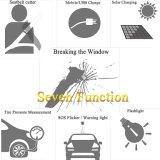 Seguridad solar/luz recargable del martillo Emergency