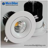 Dispositivo messo Downlight del soffitto della PANNOCCHIA LED del CREE del LED Downlight con il driver di Meanwell Dimmable