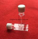 L'elevata purezza quattro lati rimuove la cella della provetta del quarzo con il tappo della vite