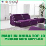 Sofá moderno púrpura de la tela de los muebles elegantes para la sala de estar