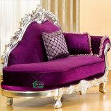 Salotto di legno del Chaise con la presidenza del sofà (92A)