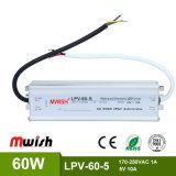 60W à tension constante mode de commutation étanches IP67 Driver de LED de puissance