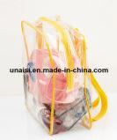 Promotion de la Mallette de transport transparente en PVC transparent Sac à dos Sac cosmétique