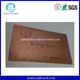 Классицистическая черная визитная карточка металла