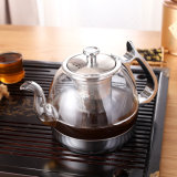 Teiera di vetro elettromagnetica con il filtro dal tè