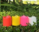 Décoration en plastique colorée de maison d'éclairage de bougie de Candlle DEL