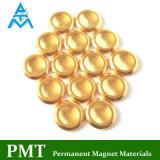 N52 Magneet van de Zeldzame aarde van D14*2.5 de Gouden met Magnetisch Materiaal NdFeB