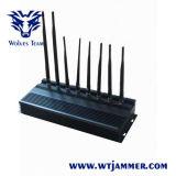 8バンド高い発電3Gの電話WiFi GPS Lojack UHF VHFの妨害機