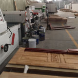 Rotes Eichen-HDF geformtes Furnier-Blatthölzernes Tür-Panel für Projekt