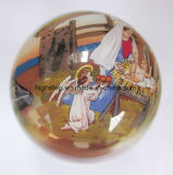 Dentro de la bola pintada de Galss