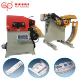 Enderezadora de la máquina de la automatización con el alimentador servo del Nc y uso de Uncoiler en línea de la máquina de la prensa y de la prensa