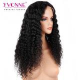Yvonne Nuevo estilo de cabello virgen 180% de densidad de onda profunda peluca delantera de encaje