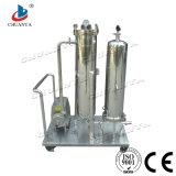 Filtro sanitário Polished do cartucho do purificador do aço inoxidável do tratamento da água com bomba de vácuo