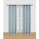 Cortina de ventana popular azul clara del telar jacquar del pasamuros del diseño
