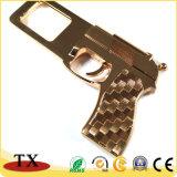 Chaîne principale personnalisée en métal de forme de canon d'or pour le souvenir