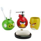 Rifornimenti sanitari degli articoli della stanza da bagno con i prodotti di uso dei bambini