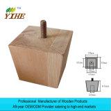 先を細くされる正方形のパンのフィートの外の形の足木