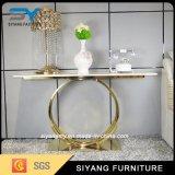 ガラス家具の金の金属のコンソールテーブルの現代コンソールテーブル