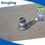 絶縁体として磁器またはガラスアセンブリのための鋳鉄の帽子
