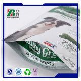 Sacchetto di plastica dell'alimento per animali domestici con la chiusura lampo