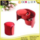 Оптовая торговля держатель для прокрутки кольца ювелирных изделий из кожи в салоне (8199)