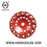 エポキシ樹脂床のための角度粉砕機のコップの車輪PCD