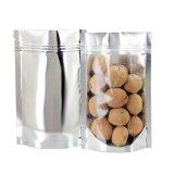 Flache mit Reißverschluss Plastikplastik-Beutel für langfristigen Nahrungsmittelspeicher