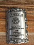 Contrassegno autoadesivo del metallo della bottiglia di vino di stampa