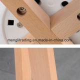 Fashion Style chaise de salle à manger en plastique de loisirs avec la jambe de bois de hêtre