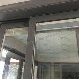 Puerta deslizante de aluminio gris de la arena con las cortinas de Ingetral