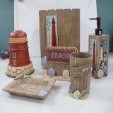 Banho de resina de acabamento em madeira imitado acessório com 6 Conjunto de PCS
