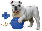 全体的な最初進水スマートなビニールのタイヤ犬の御馳走球-青い版