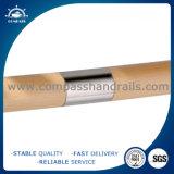 Conetor de madeira do corrimão do aço inoxidável