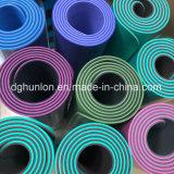 Color duradero doble cara 6mm de grosor las esteras del yoga TPE.