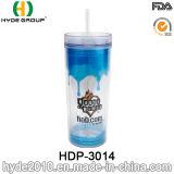 싼 16oz BPA는 밀짚을%s 가진 플라스틱 물병을 해방한다