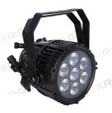RGBW 4en1 8W 7LED Impermeable IP65 al aire libre etapa PAR LED Luz Can