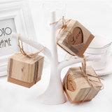 Конфета благосклонности подушки бумаги Kraft кладет коробку в коробку свадебного банкета коробки подарка упаковывая