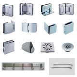 亜鉛合金のホテルの浴室の棚のガラスハードウェアの保有物クリップ