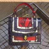 Sacchetti di cuoio nuovi Emg5266 del sacchetto di mano del progettista della borsa di modo dei sacchetti di spalla delle signore delle borse del coccodrillo della borsa del cuoio genuino del sacchetto di mano di scontro di colore di stile