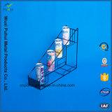Het Rek van de Voeder van de Flessen van het metaal In bijlage aan Plank